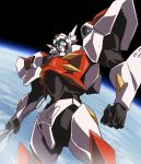 1990s_(style) d-boy earth highres mecha power_armor science_fiction solo space tekkaman_blade weapon