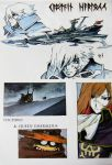 arcadia ooyama_toshiro patch photo queen_emeraldas sadamoto_yoshiyuki space_craft space_pirate the_zero_century uchuu_kaizoku_captain_harlock
