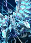 absurdres blue-eyes_chaos_max_dragon blue_eyes claws dragon duel_monster highres monster no_humans open_mouth ryou_(cagw5223) tail teeth wings yuu-gi-ou