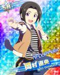 black_hair character_name dress idolmaster idolmaster_side-m okamura_nao short_hair smile violet_eyes