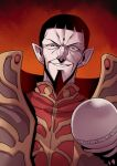 1boy beard black_hair commentary_request facial_hair highres looking_at_viewer record_of_lodoss_war smile solo staff tukiwani