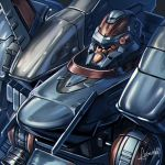 amasaki_yusuke armored_core armored_core_5 close-up highres looking_ahead machinery mecha mecha_request no_eyes no_humans science_fiction signature solo upper_body