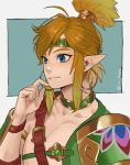 1boy alternate_costume armor blonde_hair blue_eyes chest_belt desert_voe_link earrings headband highres hoop_earrings ivy_draws jewelry link male_focus pointy_ears shoulder_armor solo spaulders the_legend_of_zelda the_legend_of_zelda:_breath_of_the_wild