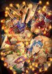 2boys archer archer_alter artoria_pendragon_(all) blue_hair blush bodysuit caster christmas christmas_tree cu_chulainn_(fate)_(all) cu_chulainn_(fate/grand_order) cu_chulainn_alter_(fate/grand_order) dark_skin dark_skinned_male earrings emiya_alter fate/grand_order fate/stay_night fate_(series) g0ringo happy_new_year highres holding_hands interlocked_fingers jack_the_ripper_(fate/apocrypha) jeanne_d'arc_(fate)_(all) jeanne_d'arc_alter_santa_lily jewelry kuzuki_souichirou lancer laughing long_hair male_focus matou_sakura merry_christmas multiple_boys new_year ornament photo_(object) ponytail red_eyes saber short_hair tohsaka_rin white_hair