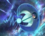 black_sclera commentary_request energy full_body gen_3_pokemon glowing lunatone no_humans orange_eyes pokemon pokemon_(creature) rowdon star_(sky)
