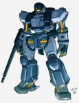 alternate_color arl-99_helldiver arm_cannon dated grey_background highres kidou_keisatsu_patlabor looking_ahead mecha moi_moi7 no_humans solo standing visor weapon