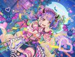 bang_dream! blush dress headdress long_hair purple_hair red_eyes smile twintails udagawa_ako