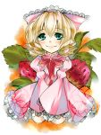 blaze_(artist) blonde_hair bureizu food fruit hina_ichigo rozen_maiden strawberries strawberry