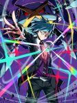 1boy blue_eyes gen_3_pokemon highres jewelry mega_metagross mega_pokemon metagross necktie pokemon ring shimure_(460) steven_stone