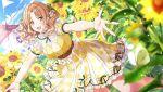 blush brown_eyes brown_hair dress ichikawa_hinana idolmaster idolmaster_shiny_colors long_hair smile twintails