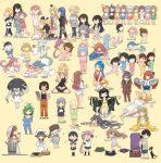 6+girls abyssal_ship akagi_(kantai_collection) akebono_(kantai_collection) akigumo_(kantai_collection) alternate_costume animal ariake_(kantai_collection) asagumo_(kantai_collection) ashigara_(kantai_collection) closed_eyes dog fubuki_(kantai_collection) hatakaze_(kantai_collection) hatsukaze_(kantai_collection) headgear helena_(kantai_collection) hibiki_(kantai_collection) highres hiryuu_(kantai_collection) hornet_(kantai_collection) houston_(kantai_collection) i-47_(kantai_collection) ikazuchi_(kantai_collection) inazuma_(kantai_collection) iowa_(kantai_collection) ise_(kantai_collection) jervis jingei_(kantai_collection) kaiboukan_no._4_(kantai_collection) kantai_collection kasuga_maru_(kantai_collection) kasumi_(kantai_collection) kazagumo_(kantai_collection) long_hair makigumo_(kantai_collection) mamiya_(kantai_collection) matsu_(kantai_collection) minegumo_(kantai_collection) mizuho_(kantai_collection) mogami_(kantai_collection) multicolored_hair multiple_girls multiple_views murakumo_(kantai_collection) nagato_(kantai_collection) oboro_(kantai_collection) ooi_(kantai_collection) ooyodo_(kantai_collection) open_mouth otoufu pajamas prinz_eugen_(kantai_collection) sakawa_(kantai_collection) samidare_(kantai_collection) saratoga_(kantai_collection) sazanami_(kantai_collection) shin'you_(kantai_collection) short_hair simple_background south_dakota_(kantai_collection) star_(symbol) taiyou_(kantai_collection) ushio_(kantai_collection) usugumo_(kantai_collection) verniy_(kantai_collection) warspite_(kantai_collection) wo-class_aircraft_carrier yamagumo_(kantai_collection) yashiro_(kantai_collection) yawning yellow_background yuugumo_(kantai_collection)