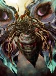 antennae bug carapace commentary duel_monster emudoru extra_eyes fangs floating giant_insect insect monster no_humans perfectly_ultimate_great_moth wings yuu-gi-ou