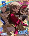 brown_eyes brown_hair character_name idolmaster_million_live!_theater_days kitazawa_shiho long_hair shirt tokugawa_matsuri