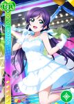 blush character_name dress gloves long_hair love_live!_school_idol_festival love_live!_school_idol_project purple_hair smile toujou_nozomi twintails violet_eyes