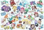 4boys 6+girls :d ;d acerola_(pokemon) ahoge allister_(pokemon) arm_up asymmetrical_bangs azumarill azurill bangs baseball_cap battle_chatelaine bea_(pokemon) black_hair black_jacket blush bow_hairband brown_hair bulbasaur chaimo_box charmander clefairy cleffa closed_eyes closed_mouth commentary_request croagunk cyndaquil dana_(pokemon) double_bun dress eevee espeon evelyn_(pokemon) eyelashes fire flame flareon gen_1_pokemon gen_2_pokemon gen_3_pokemon gen_4_pokemon gen_5_pokemon gen_6_pokemon gen_7_pokemon gen_8_pokemon gengar glaceon gladion_(pokemon) glalie grapploct greedent green_eyes green_hair grookey hair_over_one_eye hairband hand_up hat highres hilbert_(pokemon) holding holding_pokemon hoppip igglybuff jacket jolteon joltik knee_pads larvitar latias latios leaf_(pokemon) leafeon legendary_pokemon lillie_(pokemon) lisia_(pokemon) lugia lusamine_(pokemon) machop magearna magmar mallow_(pokemon) marill marnie_(pokemon) mask may_(pokemon) metagross mew mimikyu misty_(pokemon) morgan_(pokemon) morpeko morpeko_(full) multiple_boys multiple_girls mythical_pokemon nidoking nidoqueen ninetales nita_(pokemon) one_eye_closed open_mouth orange_hair pants phanpy pink_dress piplup pokemon pokemon_(anime) pokemon_(classic_anime) pokemon_(creature) pokemon_(game) pokemon_bw2 pokemon_frlg pokemon_masters_ex pokemon_oras pokemon_rse pokemon_sm pokemon_swsh pokemon_xy psyduck red_(pokemon) riding_pokemon rosa_(pokemon) scorbunny shaymin shaymin_(land) short_hair shorts side_ponytail skitty slowpoke smile sobble squirtle suspenders sweatdrop sylveon togepi totodile twintails typhlosion umbreon vaporeon venusaur visor_cap volcanion wobbuffet wooloo wooper wynaut yamper zeraora