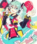 1girl ahoge breasts hatsune_miku highres kino-cands large_breasts long_hair magical_mirai_(vocaloid) solo vocaloid