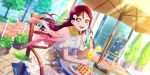 blush brown_eyes dress long_hair love_live!_school_idol_festival_all_stars redhead sakurauchi_riko smile