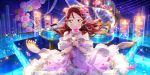 blush brown_eyes dress long_hair love_live!_school_idol_festival_all_stars off_shoulder redhead sakurauchi_riko smile