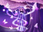 fan folding_fan hat moon nonoko saigyouji_yuyuko touhou tree wallpaper yuuka_nonoko