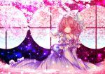 bad_id hat japanese_clothes kasuga_sunao kimono pink_hair red_eyes saigyouji_yuyuko short_hair touhou