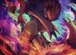 1girl gen_5_pokemon pokemon short_sword sword weapon yottur zoroark