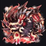brown_eyes claws commentary_request copyright_name dated gen_3_pokemon groudon kanna_(kan419_k) legendary_pokemon no_humans open_mouth pokemon primal_groudon sharp_teeth teeth
