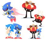 angry dr._eggman facial_hair fire flame gigi_d.g. hedgehog lowres male_focus metal_sonic mustache red_footwear sonic sonic_the_hedgehog source_request