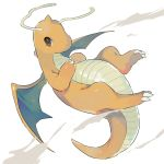 absurdres brown_eyes claws closed_mouth commentary_request dragonite full_body gen_1_pokemon hands_together hideko_(l33l3b) highres light_smile no_humans pokemon pokemon_(creature) tail wings
