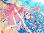 bang_dream! blush brown_hair mermaid short_hair smile toyama_kasumi underwater violet_eyes