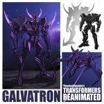 character_name decepticon energy_horns english_commentary flying galvatron horns mecha multiple_views no_humans redesign theamazingspino transformers violet_eyes