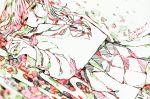 1girl colorful contrast dated eyebrows_visible_through_hair eyes_visible_through_hair hatching_(texture) long_hair looking_at_viewer lying on_back original parted_lips school_uniform serafuku signature skirt solo tmari uniform