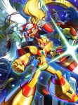 6+boys android arm_cannon beard blonde_hair capcom clenched_hand dr.doppler facial_hair green_eyes grin helmet highres hoshi_mikan long_hair male_focus mandarela_bb multiple_boys open_mouth red_eyes rockman rockman_x rockman_x3 serious smile vajurila_ff vava weapon white_hair x_(rockman) zero_(rockman)