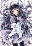 akemi_homura alexa_pasztor black_hair grey_eyes kaoru-chan long_hair mahou_shoujo_madoka_magica pantyhose solo traditional_media