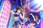 brown_eyes brown_hair dress idolmaster_cinderella_girls_starlight_stage kiryuu_tsukasa_(idolmaster) long_hair smile sunazuka_akira