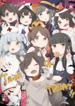 6+girls ^_^ ^o^ animal_ears aoshima_sakana bandaged_arm bandages bangs black_cape black_hair blunt_bangs blush brown_eyes brown_hair candy cape closed_eyes demon_horns demon_tail eyebrows_visible_through_hair fang food fubuki_(kantai_collection) grey_hair hair_between_eyes hair_ribbon halloween halloween_costume hat hatsuyuki_(kantai_collection) hime_cut holding holding_candy holding_food holding_lollipop holding_syringe horns isonami_(kantai_collection) jack-o'-lantern kantai_collection lollipop long_hair long_sleeves miyuki_(kantai_collection) multiple_girls murakumo_(kantai_collection) nurse nurse_cap open_mouth orange_eyes pumpkin red_cross red_ribbon ribbon shirayuki_(kantai_collection) short_hair short_ponytail short_twintails silver_hair skin_fang smile syringe tail tress_ribbon twintails uranami_(kantai_collection) usugumo_(kantai_collection) v witch_hat wolf_ears wolf_tail