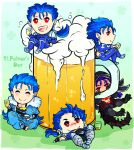 5boys ^_^ alcohol armor beads beer beer_mug blue_hair blush bodysuit bubble capelet chibi closed_eyes crossed_legs cu_chulainn_(fate)_(all) cu_chulainn_(fate/grand_order) cu_chulainn_(fate/prototype) cu_chulainn_alter_(fate/grand_order) cup earrings fate/grand_order fate/prototype fate/stay_night fate_(series) full_body fur-trimmed_hood fur_trim hair_beads hair_ornament hanging happy harem_pants hood hood_down hood_up hooded_capelet hoop_earrings jewelry keyhof lancer long_hair lying male_focus mug multiple_boys on_back pants pauldrons ponytail red_eyes saint_patrick's_day short_hair shoulder_armor sitting smile spiky_hair tail toeless_legwear type-moon