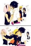 haruno_sakura hyuuga_hinata kiss uchiha_sasuke uzumaki_naruto yaoi
