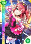 blush character_name dress green_eyes kurosawa_ruby love_live!_school_idol_festival love_live!_sunshine!! pink_hair short_hair smile twintails