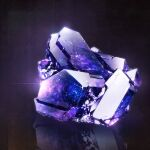 amethyst_(gemstone) cluseller commentary_request crystal glint gradient gradient_background highres no_humans original partial_commentary purple_background purple_theme reflection shiny simple_background still_life