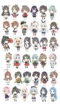 6+girls ahoge akagi_(kantai_collection) akizuki_(kantai_collection) amatsukaze_(kantai_collection) black_hair blonde_hair blue_hair brown_hair chibi commentary_request fusou_(kantai_collection) green_hair haguro_(kantai_collection) haruna_(kantai_collection) harusame_(kantai_collection) headgear highres hiryuu_(kantai_collection) ikazuchi_(kantai_collection) inazuma_(kantai_collection) japanese_clothes kaga_(kantai_collection) kantai_collection kashima_(kantai_collection) kongou_(kantai_collection) kuma_(kantai_collection) kumano_(kantai_collection) long_hair military military_uniform multiple_girls musashi_(kantai_collection) nagato_(kantai_collection) naka_(kantai_collection) naruse_chisato pink_hair prinz_eugen_(kantai_collection) remodel_(kantai_collection) ro-500_(kantai_collection) ryuujou_(kantai_collection) samidare_(kantai_collection) school_swimsuit school_uniform sendai_(kantai_collection) serafuku shimakaze_(kantai_collection) short_hair shoukaku_(kantai_collection) silver_hair simple_background souryuu_(kantai_collection) standing suzukaze_(kantai_collection) suzuya_(kantai_collection) swimsuit uniform white_background yahagi_(kantai_collection) yamashiro_(kantai_collection) yamato_(kantai_collection) yukikaze_(kantai_collection) yura_(kantai_collection) yuubari_(kantai_collection) zuihou_(kantai_collection) zuikaku_(kantai_collection)