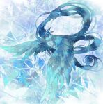 articuno bird closed_mouth commentary_request feathered_wings full_body gen_1_pokemon highres legendary_pokemon mokunami no_humans pokemon pokemon_(creature) solo sparkle wings