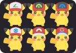 :3 :d baseball_cap commentary gen_1_pokemon happy hat hatted_pokemon looking_at_viewer no_humans open_mouth pikachu pokemon pokemon_(anime) pokemon_(classic_anime) pokemon_(creature) pokemon_bw_(anime) pokemon_dppt_(anime) pokemon_rse_(anime) pokemon_sm_(anime) pokemon_xy_(anime) red_headwear rizu_(rizunm) simple_background smile standing twitter_username