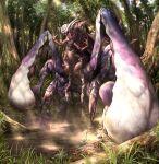 day forest grass kuniyasu_ikki monster monster_hunter nature no_humans outdoors solo sunlight tree