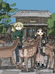 2girls absurdres animal chito_(shoujo_shuumatsu_ryokou) deer highres multiple_girls shoujo_shuumatsu_ryokou tsukumizu_yuu yuuri_(shoujo_shuumatsu_ryokou)