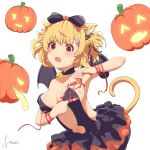 1girl absurdres animal_ears breasts cat_ears demon_girl halloween highres original sideboob succubus user_myyz3372