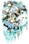 2boys bangs black_hair blue_headwear closed_mouth commentary_request dual_persona gen_1_pokemon gen_4_pokemon hair_between_eyes hat highres jacket lucario mew multiple_boys mythical_pokemon pokemon pokemon_(anime) pokemon_(creature) pokemon_(game) pokemon_dppt pokemon_m08 pokemon_rse_(anime) riley_(pokemon) riolu sir_aaron tore_(ksg666xxx)