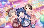 blush dress idolmaster_cinderella_girls_starlight_stage long_hair purple_hair red_eyes sajou_yukimi