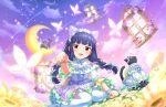 blush dress idolmaster_cinderella_girls_starlight_stage long_hair purple_hair red_eyes sajou_yukimi twin_braids usa_mimi