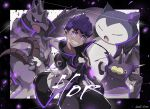 artist_name black_pants character_name clenched_hand clenched_teeth clothed_pokemon coat commentary_request corviknight dark_skin dark_skinned_male dubwool gen_1_pokemon gen_8_pokemon gloves hands_together head_tilt highres hop_(pokemon) long_sleeves looking_at_viewer male_focus odd_(hin_yari) pants pincurchin pokemon pokemon_(creature) pokemon_(game) pokemon_swsh popped_collar purple_hair shirt short_hair single_glove smile snorlax teeth violet_eyes watermark
