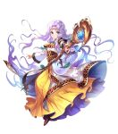 1girl bangs blue_eyes bracelet brown_footwear chachie circlet closed_mouth dress eyebrows_visible_through_hair fire_emblem fire_emblem:_thracia_776 fire_emblem_heroes full_body highres holding jewelry long_dress long_hair long_sleeves looking_at_viewer official_art parted_bangs pink_hair sara_(fire_emblem) shiny shiny_hair smile solo staff transparent_background wide_sleeves
